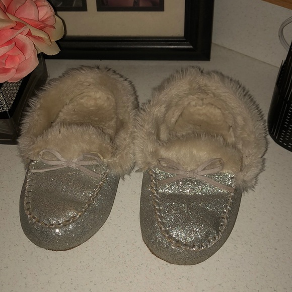old navy sequin slippers